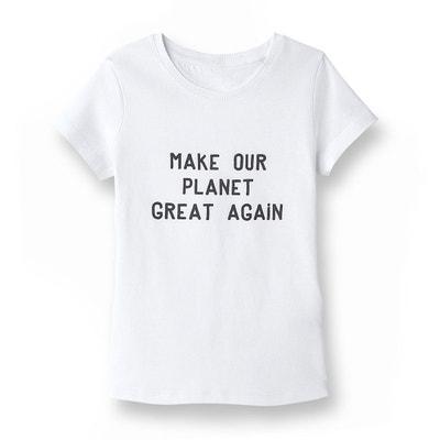 Tee-shirt message 5-14 ans en coton bio Tee-shirt message 5-14 ans en coton bio LA REDOUTE COLLECTIONS