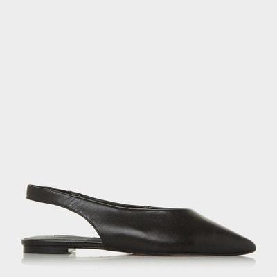 Chaussures plates à bride arrière et découpe en U - CASSIUS Chaussures  plates à bride arrière. Soldes. DUNE LONDON 7fee2aba8ce8
