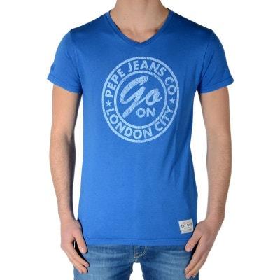 Tee Shirt Enfant Dorian PB500613 Bleu French 541 Tee Shirt Enfant Dorian  PB500613 Bleu French 541. PEPE JEANS e857cfa90c46