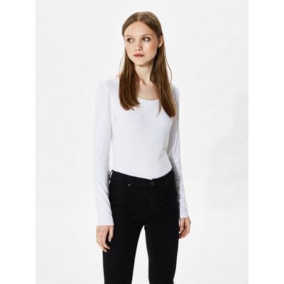 f0ea06b0b4de9 T-shirt à manches longues Basique - T-shirt à manches longues Basique -.  SELECTED FEMME
