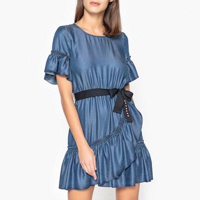 Kurzärmeliges Kleid mit Volants LIU JO
