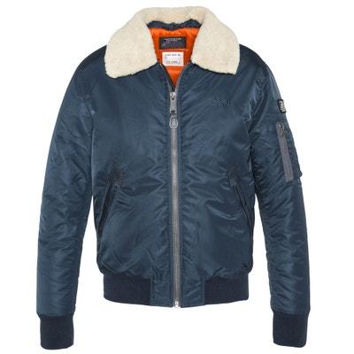Short Mid-Season Jacket with Classic Collar Short Mid-Season Jacket with Classic Collar SCHOTT