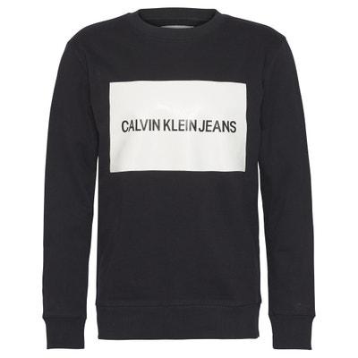 Sweatshirt, runder Ausschnitt, Aufdruck vorne Sweatshirt, runder Ausschnitt, Aufdruck vorne CALVIN KLEIN JEANS