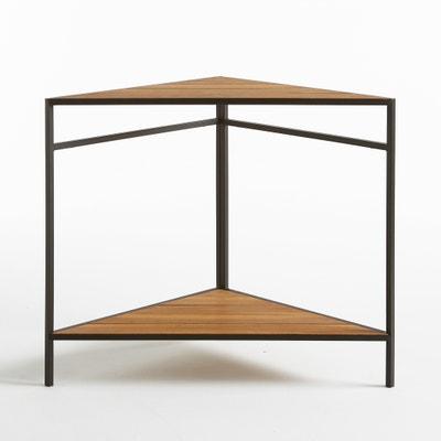 Table de jardin d'angle en métal et acacia Table de jardin d'angle en métal et acacia La Redoute Interieurs