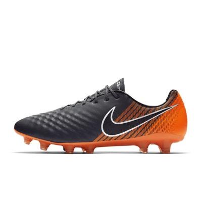 664974eb9af6 Chaussures football Chaussure de Football Nike Magista Obra II Elite FG  Gris Orange NIKE