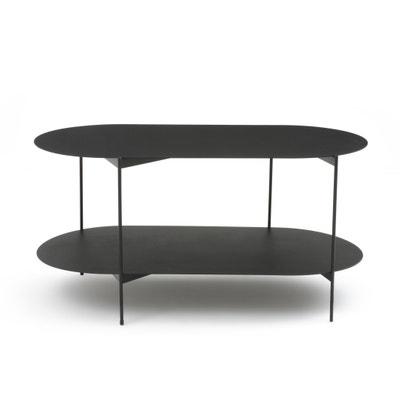 Table basse double plateaux en acier OBLONE Table basse double plateaux en acier OBLONE La Redoute Interieurs