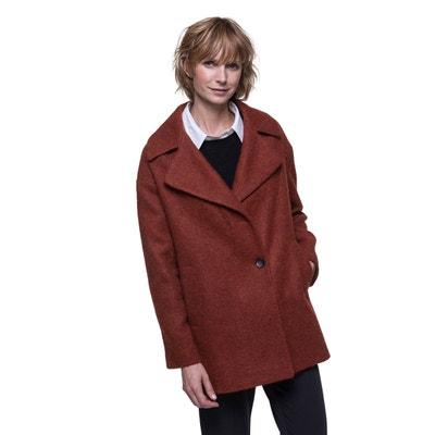 Manteau court en laine et alpaga Manteau court en laine et alpaga TRENCH AND COAT