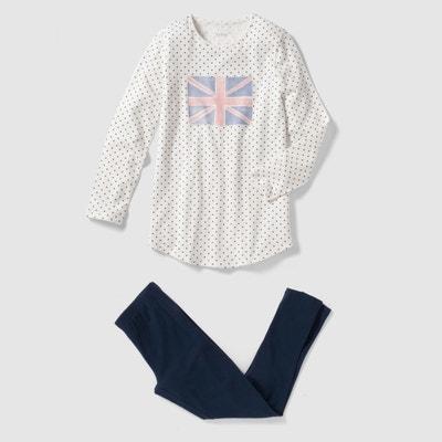 Pijama compuesto por camisón y leggings 10-16 años La Redoute Collections