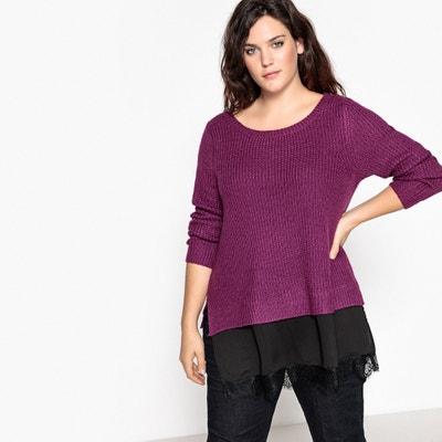 Pullover aus Grobstrick mit Rundhalsausschnitt Pullover aus Grobstrick mit Rundhalsausschnitt CASTALUNA