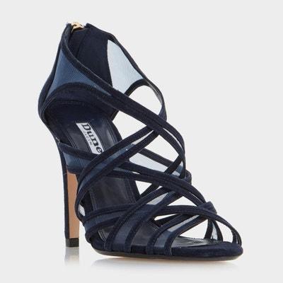Sandales à talons hauts et brides en tulle style cage - MEDIA Sandales à  talons hauts. Soldes dc2d5fa7e524