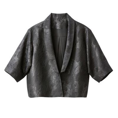 Kurze Jacke in Kimono-Form, Jacquard Kurze Jacke in Kimono-Form, Jacquard MADEMOISELLE R