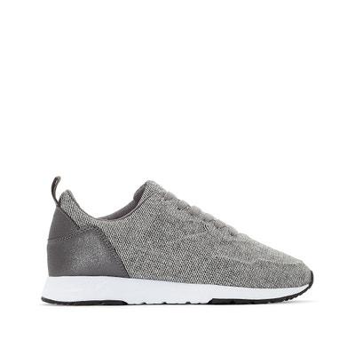 Sneakers mit Schnürung, grau, Material-Mix Sneakers mit Schnürung, grau, Material-Mix La Redoute Collections