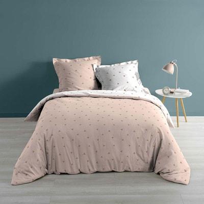 parure de lit rose poudre en solde la redoute. Black Bedroom Furniture Sets. Home Design Ideas
