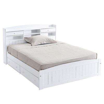 lit avec tte de lit pin massif grimsby la redoute interieurs - Cadre De Lit Avec Rangement 160x200