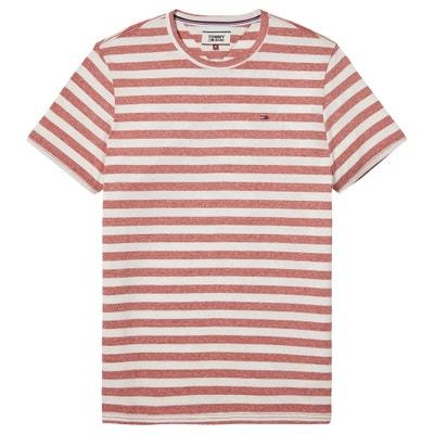 T-shirt met ronde hals, korte mouwen en strepen T-shirt met ronde hals, korte mouwen en strepen TOMMY JEANS