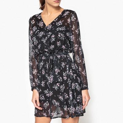Langärmeliges Kleid aus bedrucktem Voile Langärmeliges Kleid aus bedrucktem Voile LIU JO