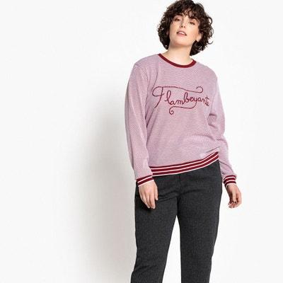 T-shirt col rond manches longues pur coton CASTALUNA