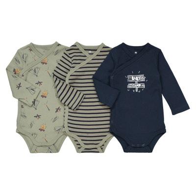 Confezione da 3 body nascita cotone bio prematuri -2 anni Confezione da 3 body nascita cotone bio prematuri -2 anni La Redoute Collections