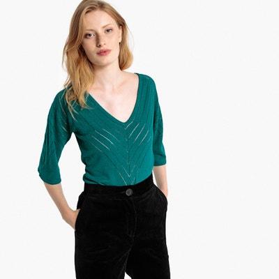 Pullover mit V-Ausschnitt, Leinen-Mix Pullover mit V-Ausschnitt, Leinen-Mix La Redoute Collections