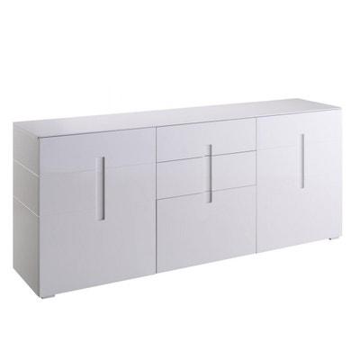 Meuble Bas Tv Laque Blanc Design En Solde La Redoute