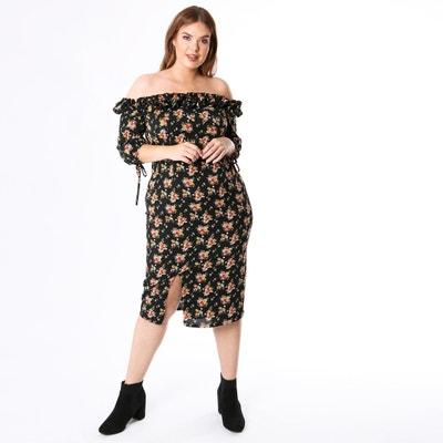 Robe épaules dénudées, imprimé floral Robe épaules dénudées, imprimé floral KOKO BY KOKO