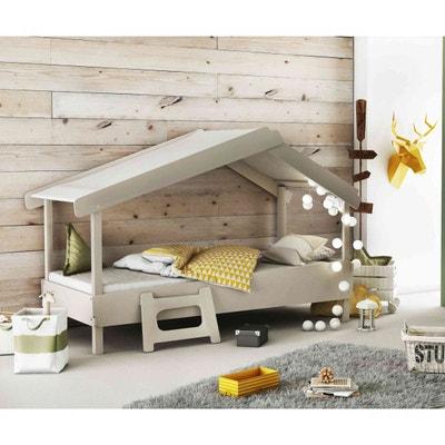 lit enfant cabane en bois gris lit enfant cabane en bois gris terre de nuit - Lit Cabane Enfant