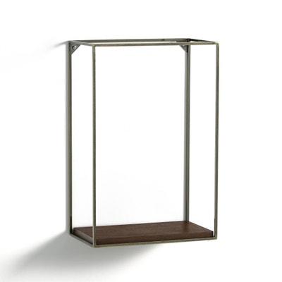 Verticale etagère in metaal/notenhout, Oshota AM.PM.