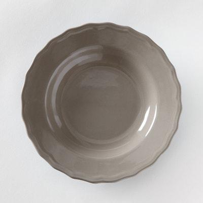 Piatto fondo smerlato (confezione da 4), Ajila La Redoute Interieurs