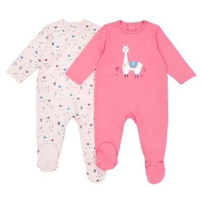 Lot de 2 pyjamas lama en coton 0 mois - 3 ans Lot de 2 pyjamas lama en coton 0 mois - 3 ans La Redoute Collections