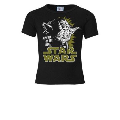 494ad8d737867 T-Shirt enfant Yoda - Guerre des étoiles - Star Wars - Jedi - noir