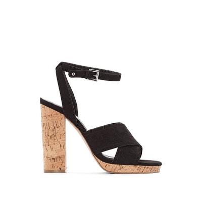Cork Heel Sandals Cork Heel Sandals La Redoute Collections