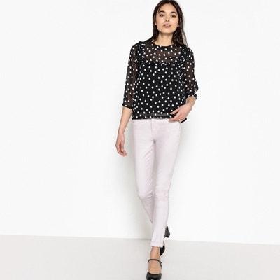 Bedrukte blouse met volants MADEMOISELLE R