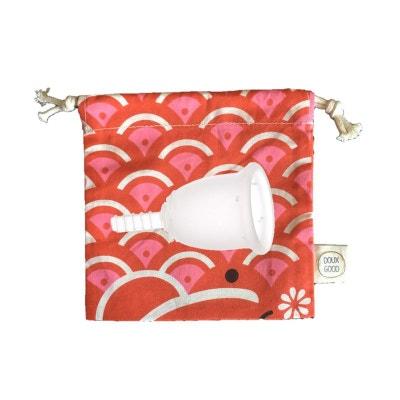 Coupe menstruelle   petite taille  avec sa pochette colorée Doux Good Coupe menstruelle   petite taille  avec sa pochette colorée Doux Good FLEURCUP
