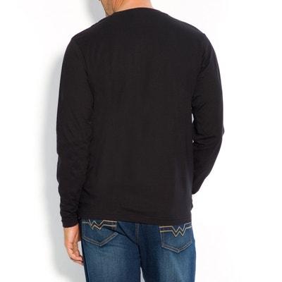 T-shirt taglie forti scollo rotondo maniche lunghe CASTALUNA FOR MEN