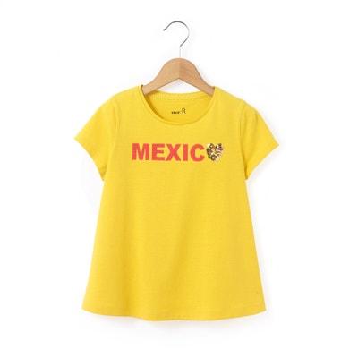T-shirt con scollo rotondo fantasia, maniche corte La Redoute Collections