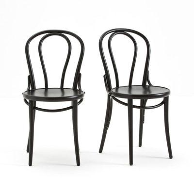 Chaise noire en solde la redoute for Chaise bistrot solde