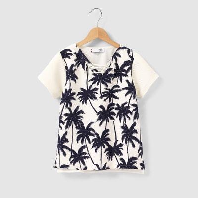 T-shirt scollo a V, da 8 a 16 anni LE TEMPS DES CERISES