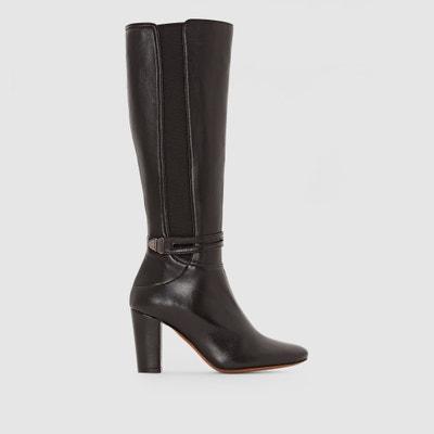Leder-Stiefel mit hohem Absatz Doriana Leder-Stiefel mit hohem Absatz Doriana HEYRAUD