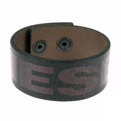 Bracelet cuir homme diesel pas cher