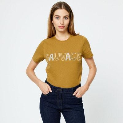 2d736dc74dbc5 Tshirt manches courtes message brodé Tshirt manches courtes message brodé  MONOPRIX