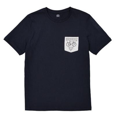T-shirt de gola redonda com bolso estampado La Redoute Collections