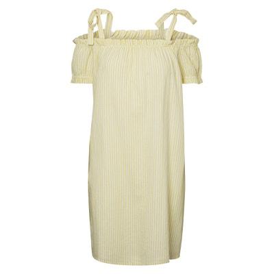 Striped Bardot Shift Dress VERO MODA
