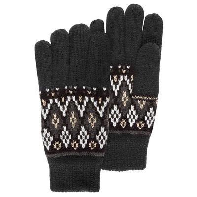 Gants femme jacquard Fil textile ISOTONER f442e70fb00