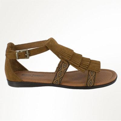 Sandales plates tressée en cuirMinnetonka 77Udga