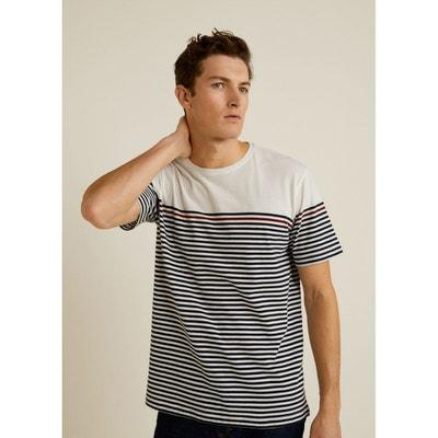 T-shirt coton à rayures T-shirt coton à rayures MANGO MAN d975af341f7d