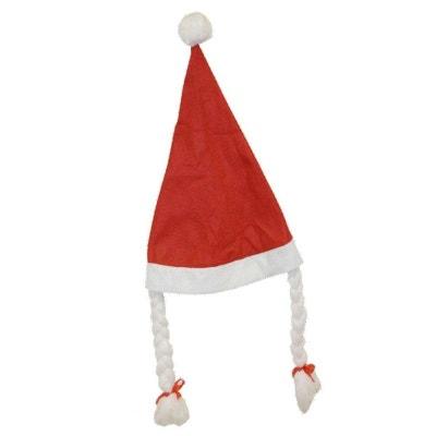 Bonnet De Noel Avec Tresses Bonnet De Noel Avec Tresses RUBIE'S