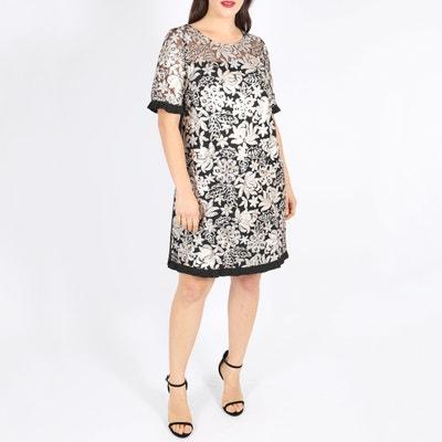 Kurzärmeliges Kleid mit rundem Ausschnitt und Pailletten Kurzärmeliges Kleid mit rundem Ausschnitt und Pailletten KOKO BY KOKO