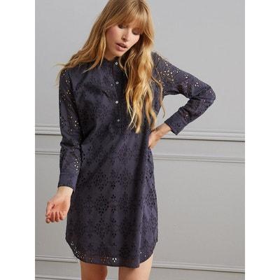 Robe-chemise brodée femme Robe-chemise brodée femme CYRILLUS b73b83b991cc