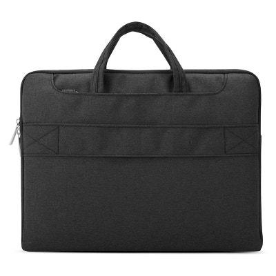 sacoche pc portable 15 4 pouces housse macbook nylon impermable noir yonis - Ordinateur Portable 17 Pouces Soldes