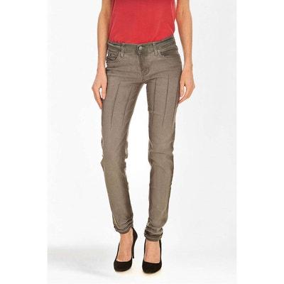 Jeans Cheap Monday Zip Low Slim Gris Delave Femme CHEAP MONDAY
